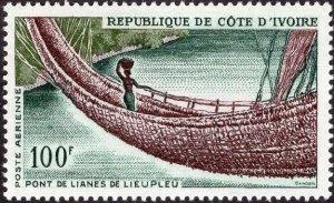 Ivory Coast C30 - Mint-NH - 100fr Liana Bridge, Lieupleu (1965) (cv $3.50)