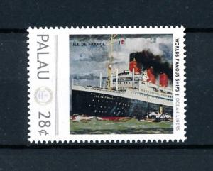 [90507] Palau  Ships Ile de France Ocean Liners French Line CGT  MNH