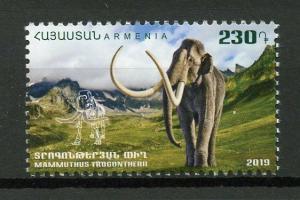 Armenia 2019 MNH Mammoths Fauna Ancient World 1v Set Prehistoric Animals Stamps