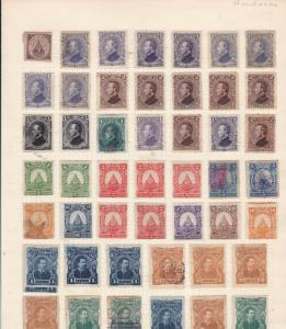 Honduras  Stamps on page Ref 15556