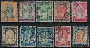 Thailand #92-3,5,7-8,100-2,4-5  CV $40.00
