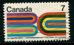 552 Canada 7c British Columbia Centennial, used