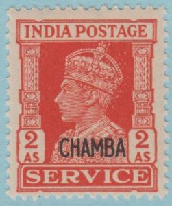 Z-INDIA-CHAMBA STATE O62 OFFICIAL  MINT NEVER HINGED OG ** NO FAULTS VERY FINE!