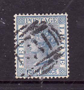 Sierra Leone-Sc#29-used 4p blue-QV-1883-93-