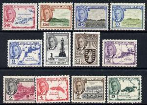 British Virgin islands 1952 KG6 definitive set complete 1...