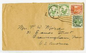 Burma Cover 1933 Neatly Tied to US VF Scarce