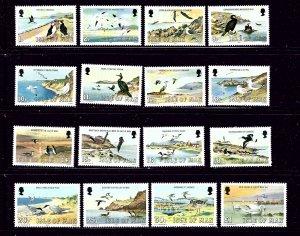 Isle of Man 224-39 MNH 1983 Birds