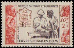 New Caledonia #B14, Complete Set, 1950, Medical, Hinged