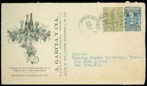 1928 GUATEMALA, Vinos Y Licores / WINES & SPIRITS, A. GARCIA Y CIA ADVERT to USA