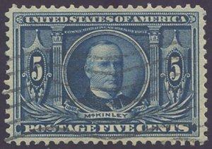 US Scott #326 Used, VF/XF, PSE (Graded 85)