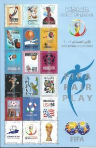 Qatar (mnh souvenir sheet of 18) FIFA World Cup (2002)