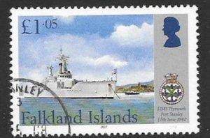 FALKLAND ISLANDS SG1075 2007 £1.05 MARITIME HERITAGE FINE USED