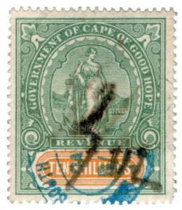 (I.B) Cape of Good Hope Revenue : Duty Stamp 10/-