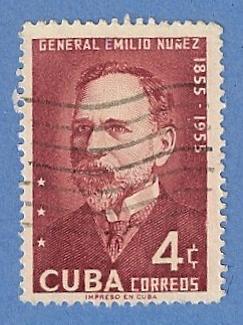 Cuba 549 Used H Pencil Mark - General Emilio Nunez / HipStamp