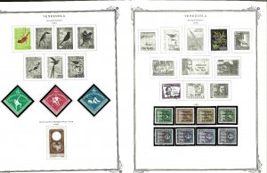 Venezuela 1961-1974 Mint (a few used) in Mounts on a mix of Specialty Pages