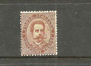 ITALY 1879  30c BROWN  FU SIGNED   Sc 49  SG 35