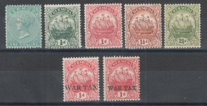 Bermuda Sc 9, 41a, 83b, 84, 86, MR1, MR2 MLH. 1894-1924 issues with small faults