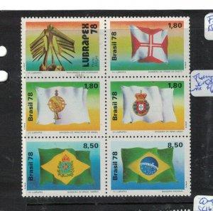 Brazil SC 1581a Flags MNH (1etg)