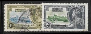 Northern Rhodesia 18 used & 19 mh 2013 SCV $3.75    19922