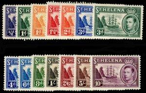 ST. HELENA SG131-140, COMPLETE SET, M MINT. Cat £140.
