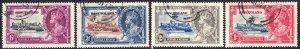 1935 Sierra Leone KGV Silver Jubilee complete set used Sc# 166 / 169 CV $50.35