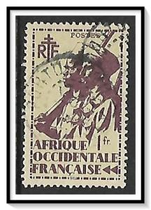 French West Africa #24 Colonial Soldier Used