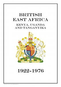 British East Africa 1922-1976  PDF (DIGITAL) STAMP  ALBUM PAGES