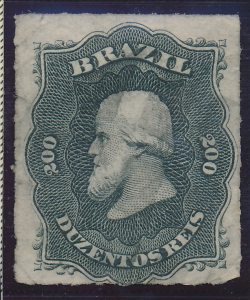 Brazil Stamp Scott #66, Unused, Faults, Thin - Free U.S. Shipping, Free World...