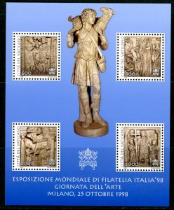 Vatican City MNH mint 1087 medieval art carving stone souvenir sheet      (In...