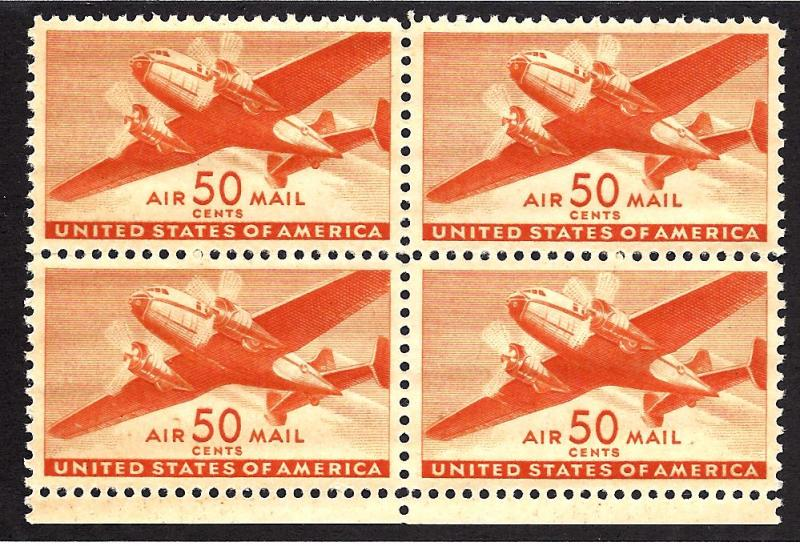 C31 Mint,OG,NH... Block of 4... SCV $44.00