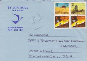 Rhodesia 1960's Air letter Collection.(15)  Requests for U.N  NGO Scholarships