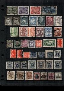 Poland  44  diff  used and mint   lot collection