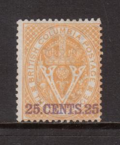 British Columbia #11 Mint Fine Unused (No Gum)