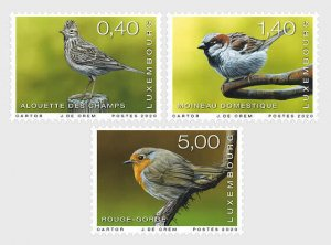 2020 LUXEMBOURG -  RARE BIRDS  - SET UNMOUNTED MINT