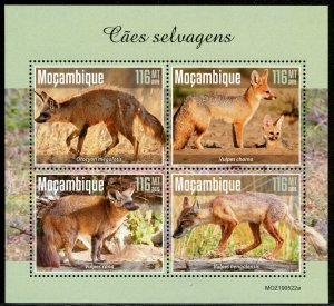 MOZAMBIQUE 2019  WILD DOGS  SHEET MINT NEVER HINGED