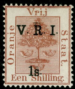 SOUTH AFRICA - Orange Free State SG131, 1s on 1s brown, NH MINT. Cat £40.