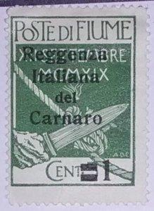 Fiume (Carnaro) World Stamp #1*nh