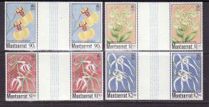 D1-Montserrat-Scott#554-7-Unused NH sets-gutter pairs-Orchid
