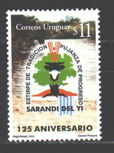 Uruguay. 2000. 2579. 125 years to the city of Sarandi del Yi. MNH.