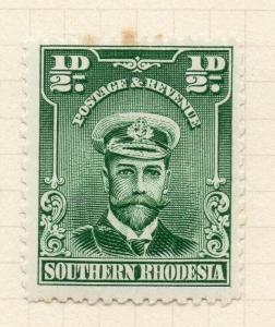 Southern Rhodesia 1924 Admiral Issue Mint Hinged 1/2d. 294111