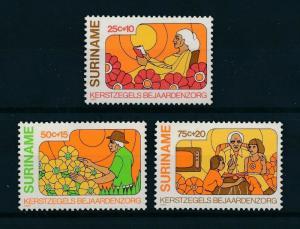 [98542] Suriname Surinam 1980 Christmas Weihnachten Flowers Elderly Care  MNH