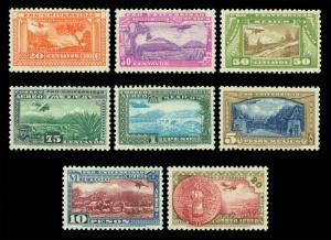 MEXICO 1934 AIRMAIL - National University issue set 20c - 20p Sc#C54-61 mint MLH