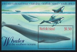 Norfolk Whales of the Southern Oceans MS SG#MS685 SC#665