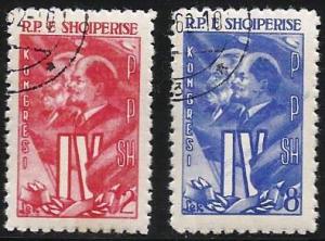 Albania 1961 Scott# 583 to 584 used complete