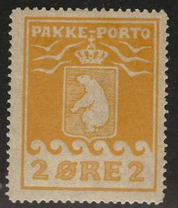 Greenland Rare 2Ore Pakke - Porto Parcel Post (Sc Q2) F-VF MOG...Hard to Find!