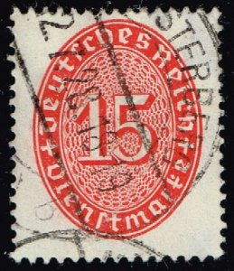 Germany #O73 Official - Numeral; Used (1Stars)