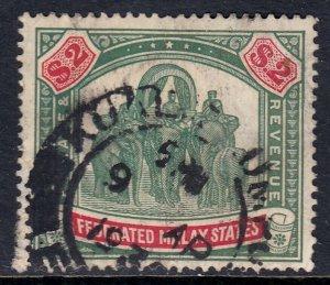 MALAYA FED. ST. — SCOTT 74 (SG 78) — 1926 $2 ELEPHANT — SCV $90