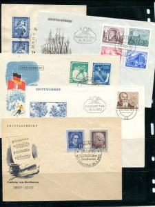GDR 5  early  unaddressed FDC  VF