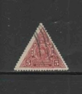GUATEMALA #O10 1929 5c OFFICIAL MAIL F-VF USED