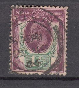 J27536 1902-11 great britain used #129 king